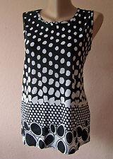 Weichfliessendes Top Shirt Bluse Gr. 46 48 schwarz/weiß (2XL/3XL MAG52) Neu