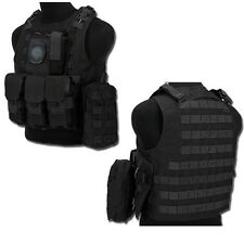 OFFERTA GILET TATTICO MOLLE SOFTAIR CIRAS NERO COD 1153 AIRSOFT TACTICAL VEST