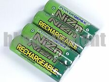 PowerGenix 2500mWh 1.6V Volt AA NiZn Nickel Zinc Rechargeable Battery x4