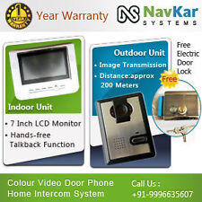 Video Door Phone | Doorbell Home Intercom System with Electronic Lock
