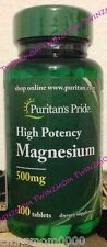 Magnesium High Potency 500mg 100 Tablets Bone Nerve & Muscle Support