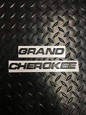 Grand Cherokee Jeep Black 3D Emblem Badge Letters Number alphapet logo car truck