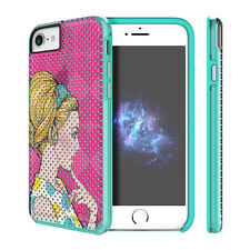 "Prodigee Muse Pop Pink Teal iPhone 7 4.7"" 2 Piece Art Case Thin Slim Cover"