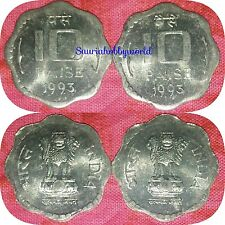 Scare 10 Paise Definative Coin ( 2pc ) BUNC Kolkata Mint = 1993