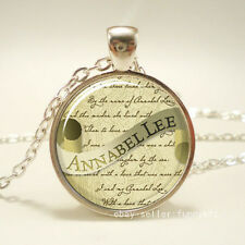 Edgar Allan Poe Necklace, Annabel Lee, Gothic Jewelry Pendant Necklace /43