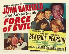 FORCE OF EVIL Movie POSTER 27x40 B John Garfield Thomas Gomez Marie Windsor