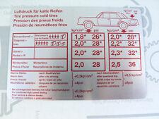 Original Mercedes Aufkleber REIFENDRUCK / Tankklappe W114 W115 NOS! Restposten!