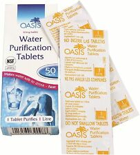 50 x Oasis Water Purification Purifying & Cleansing Cleaning Treatment Tablets