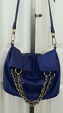 B MAKOWSKY LUXURIOUS HANDBAG PURSE ROYAL BLUE FINE LEATHER NWOT!