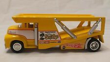 "Hot Wheels 100% ""56 1956 FORD COE SNAKE TRANSPORT TRUCK HAULER w/REAL RIDERS hw"