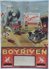 """""""FOURNITURES BOYRIVEN"""" Affiche-calendrier originale entoilée 1933 VIC 54x76cm"""