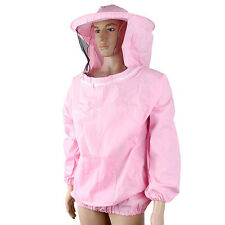 Beekeeping Jacket Veil Bee Keeping Suit Hat Pull Over Smock Protective Tool New