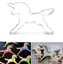 FD2785 Unicorn Horse Stainless Steel Cookie Cutter Cake Baking Mould Biscuit