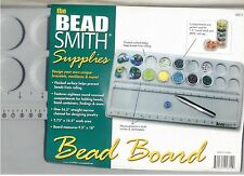 "BeadSmith Bead Board - Large Flock Bead Board  w/ measurements 9.5"" X 18"" NEW"