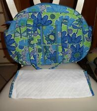 Vera Bradley Baby Bag Diaper travel bag with diaper pad in Daisy Doodle NWT