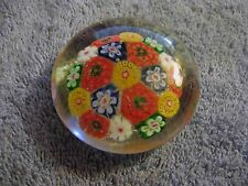 Vintage Glass Millefiori Paperweight Excellent NR
