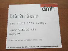 VAN DER GRAAF GENERATOR - DE MONTFORT HALL LEICESTER UK 9.7.2005 USED TICKET
