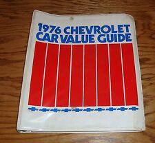 Original 1976 Chevrolet Dealer Car Value Guide Album 76 Chevy Corvette Camaro