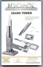 Fascinations Iconx SEARS TOWER 3D Laser Cut Metal Earth Laser Cut Model Puzzle