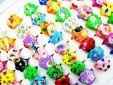 50Pcs Wholesale Mixed Lots Cute Cartoon Children/Kids Resin Lucite Ring New J113