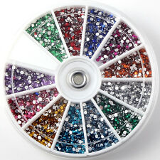 Nail Art 3600pcs 1.5mm Rhinestones Glitter Decoration 3D Tips Diamond Gem Wheel