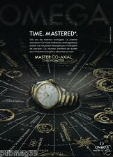 Publicité advertising 2014 La Montre Master Co-Axial Omega