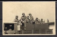 Unmailed RPPC Germany Wehrmacht feldpost Postcard Army Soldiers in Truck