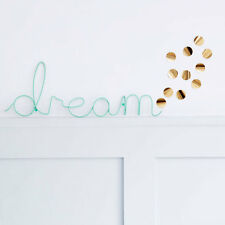 DREAM Wire Wall Word Mint Green 3D Wall Art Home Decoration