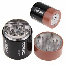 Creative Battery Tobacco Grinder Herb Spice Hand Grinder Spice Crusher 3 Layer