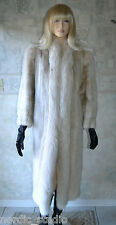 Gorgeous Genuine Azurene Mink & Arctic Fox Fur Coat, Full Length, size M