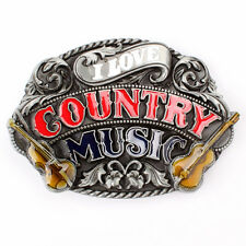 Vintage Country Music Belt Buckle Western Cowboy Native American (CMC-01)