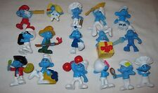 McDonald's SMURFS 2011 Happy Meal Toys ~Lot of 15 PVC~All Different! No Doubles