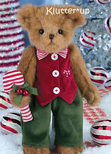 "Bearington Bear PARKER & PEPPERMINT 14"" Christmas Boy #173208 NEW FALL 2014"