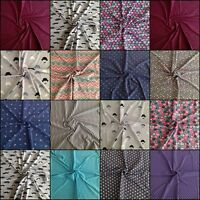 Cotton Jersey/ Interlock/ T-shirting Fabric - patterned - SOLD BY THE HALF METRE