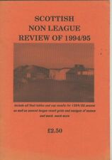 Booklet : THE SCOTTISN NON LEAGUE REVIEW OF 1994 - 95 by Stewart Davidson
