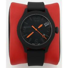 Esq By Movado Esq One 07101454 Unisex Black Dial Watch with Silicone Strap