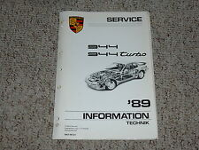 1989 Porsche 944 & Turbo Shop Service Repair Workshop Manual Coupe 2.5L 2.7L