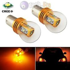 2 High Power 25W Amber 1156 P21W 7507 BA15S CREE LED Bulbs for Turn Signal Light