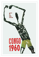 Cuban movie Poster 4 film CONGO-1960.African Giacometti.Expressionism art
