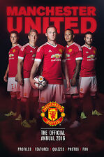 Manchester United - The Official Annual 2016 - Red Devils Football Soccer book