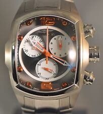 New Mens Invicta 1686 Lupah Swiss Chronograph Stainless Steel Bracelet Watch