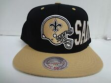 New Orleans Saints Cap Mitchell & Ness Snapback Flat Throwback Helmet Hat NFL