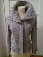 LAFAYETTE 148  Light Blue Tweed Zip Up Blazer /Jacket Size 10/12
