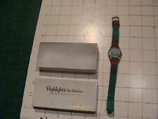 Vintage toy watch: HIGHLIGHTS TOMMY TIMBERTOES WATCH, in box, not working, cool