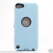 Blue Hybrid Plastic &Gel ULTRA Protective Armor Case &Screen Guard iPod Touch 5