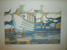 Port Sphere by Hilke Hein - Original Colour Woodcut Numbered and Signed