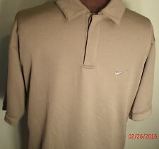 Nike Performance Polo Green Shirt Men's M 100% Polyester 2 Button Swoosh Golf