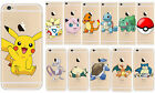 Pokemon GO Pikachu Charizard Blastoise Squirtle Transparent Apple iPhone Case