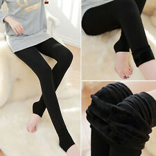 Womens Thermal Thick Warm Fleece Lined Fur Stretchy Tight Pencil Leggings Pants