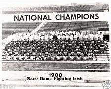 1988 NOTRE DAME IRISH FOOTBALL NATIONAL CHAMPIONS 8X10 TEAM PHOTO ISMAIL SMITH